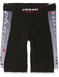 Okami Fightgear Kid de kanji Short mma–Noir