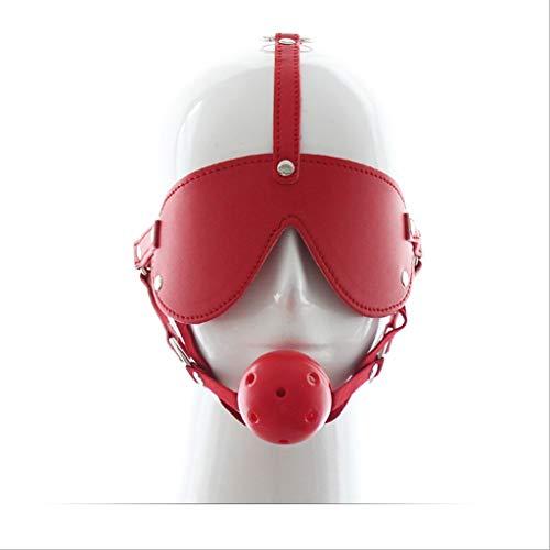 CSH Swimsuit Adult Game Produkte Rollenspiel Augenbinden Eyeshade Plug Set Horse Shaped Skull App Leistung Schwarz Rot Rosa Harte Kugel Jeans (Color : Black)