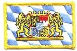 Flaggen Aufnäher Patch Freistaat Bayern Löwen Fahne NEU