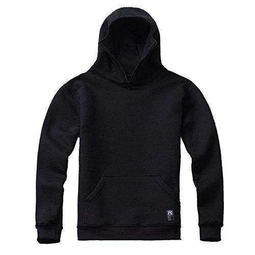 PG Wear Ninja Kapuzenpulli Stealth schwarz grau S-XXXL (L, Schwarz)