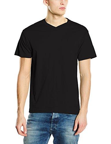 Stedman Apparel Herren T-Shirt Classic-t V-neck/st2300 Schwarz - Black Opal