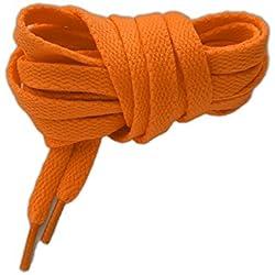 Cordones deportivos planos de alta calidad 125cm naranja fluorescente