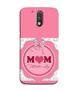 FUSON Designer Back Case Cover for Motorola Moto G4 Plus (Love Mom Mother Quote Messages MothersDay)