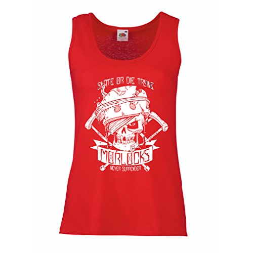 lepni.me N4605P Camisetas sin mangas femenina Skate or Die Trying (Large Rojo Multicolor)