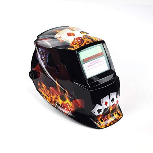 Elektrische Schweißschutzmaske Automatische Schweißschutzmaske Schweißer Einstellbare Argon Lichtbogenschweißen Aufkleber Maske