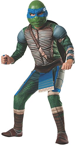 Rubies Teenage Mutant Ninja Turtles Deluxe Muscle-Chest Leonardo Costume, Child Large