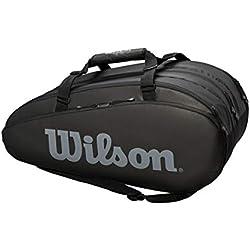 Sac de Tennis Wilson, Tour 3 Comp, Noir, Unisexe, Jusqu'à 15 Raquettes, WRZ849315