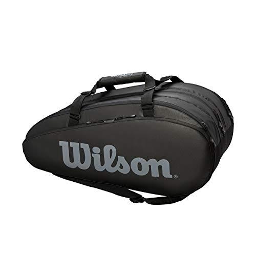 WILSON Unisex– Erwachsene Tour 3 Comp Black/Grey Tennis Bags 15 Rackets