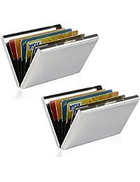 Tarjetero para Tarjetas de Crédito/Visita/Monedero/Lucha contra RFID Scanning – Genial–Funda Fina de Metal para Tarjetas de Visita