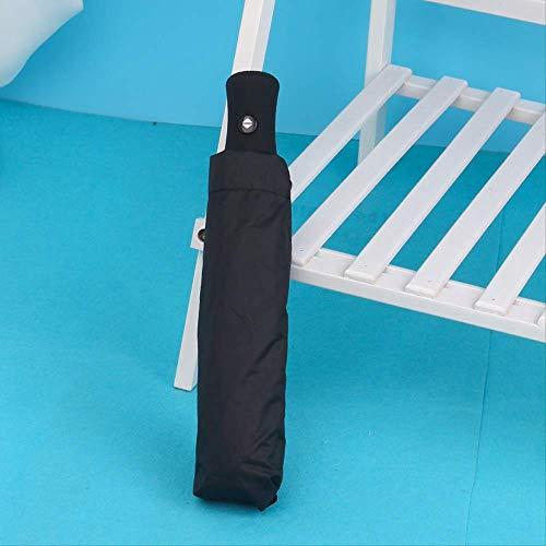 Vinyl Automatische Automatische DREI Klappschirm, Werbung Regenschirm Männer Und Frauen Business Regenschirm, Sonnig Und Regen Schirm 29CM schwarz -