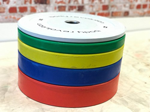 Body-Revolution-Rubber-Bumper-Weight-Plates-Coloured-Olympic-2-Discs-for-Barbells-Crossfit-125kg-25kg-25kg-pair