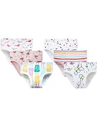 KESYOO 2 Piezas de Ropa Interior Triangular de Algodón Calzoncillos Calzoncillos Cómodos Pantalones Triangulares de Bebé para Niñas Pequeñas (Aptas para Una Altura de 80-90 Cm