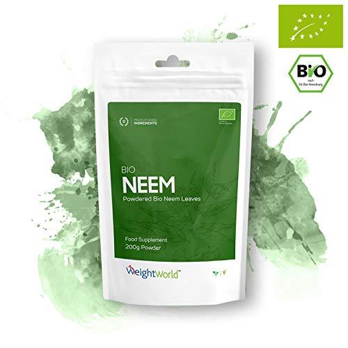 Bio Neem Pulver | 200g Pulver für Herz & Immunsystem | Zur Unterstützung der Abwehrkräfte | Aus...