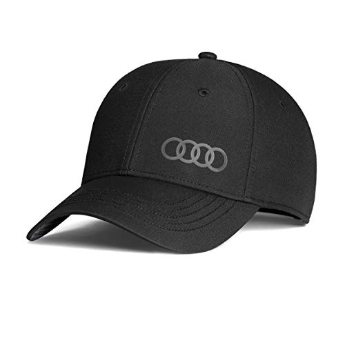 Audi 3131800100 Original Basecap Kappe Cap Premium 'Frequenz', schwarz (Audi Cap)