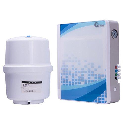Ionizer-system Wasser (JIAYIDE® Wasserfilter Aufsatz-Wasser-Filtration-System durch belebtes Wasser, hoher pH alkalischer Ionizer Wasser-Reinigungsapparat-Spender, Super-schnelle Filtration, langlebiger Mineralstein keramischer Kohlefilter, verbessert pH u. ORP, fügt wesentliche Mineralien, entfernt schwere Metalle, Flouride u. Bakterien, Haus an U. Büro-Gebrauch (RO-300-0008)B)