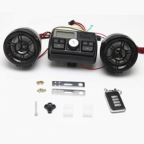 Noradtjcca wasserdichte 12 V Motorrad Fahrrad FM Radio USB TF MP3-Player Dieb Stereo Lautsprecher Audio-Sound-System mit Fernbedienung