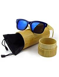 Holz Sonnenbrille M?nner Art und Weise Bambus Sonnenbrille h?lzerne Sonnenbrille mit Bambus Geh?use Kunststoff Rahmen JULI 6919 HZtHZjSegD