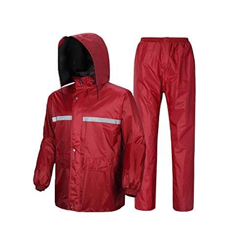 RAINCOAT Regenbekleidung- Herren/Damen Wasserdichte Set Herren Wasserdichte Regen Mantel Jacke Mantel Hose Bottoms Set Anzug Arbeit Camping Angeln (größe : XXXXL)