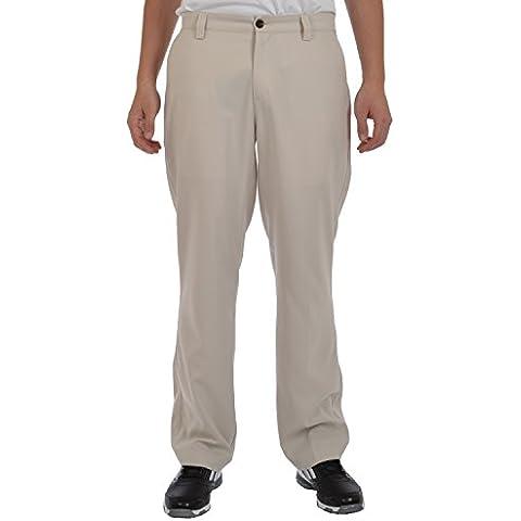 adidas Climalite frontal plano pantalones de Golf para hombre, color blanco crudo W32L32