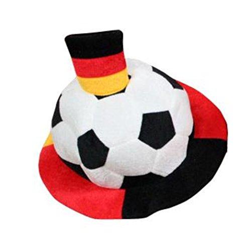 HAAC Fan Hut Ball mit Fahne Plüsch Fußballhut in Deutschlandsfarben Deutschland Fußball 2014 Fußball-hut