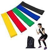 Fitness fasce elastiche,KAIHONG Set di 5 Fitness resistenza Loop Bands in Forza per resistance training, yoga, pilates, fisioterapia, cinghie per allenamento crossfit - Le tendenze della moda