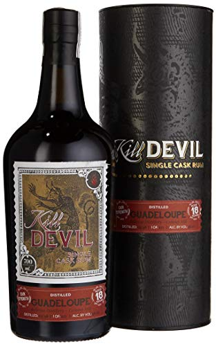 Hunter Laing Kill Devil Guadeloupe 18 Years Old Single Cask Rum mit Geschenkverpackung (1 x 0.7 l) -