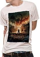 The Hobbit BOTFA - Smaug Poster Unisex - White - XX Large - T-Shirt - CID