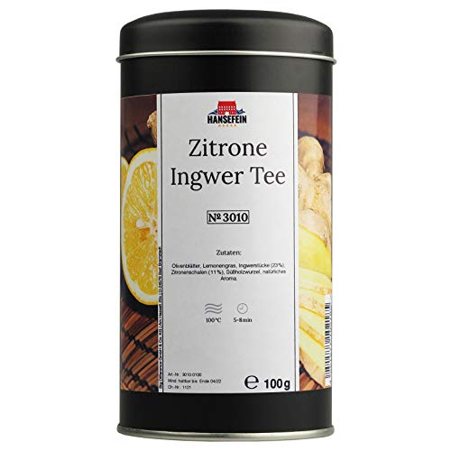 Hansefein Zitrone Ingwer Teemischung lose 100g in Aromadose