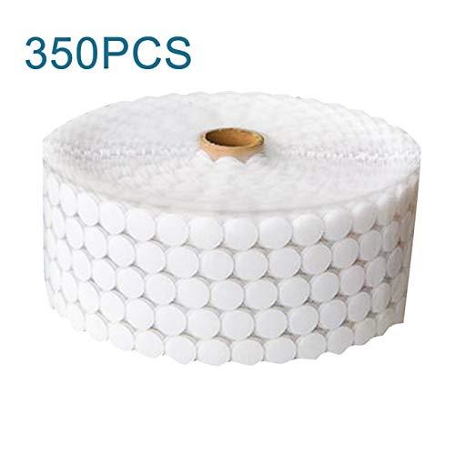 hengduolailin 350 STÜCKE Magie Nylon Münze Aufkleber Doppelseitig Klebstoff Haken Loops Scheiben Weiß Runde Pads Dot Verschluss Band Nähen -