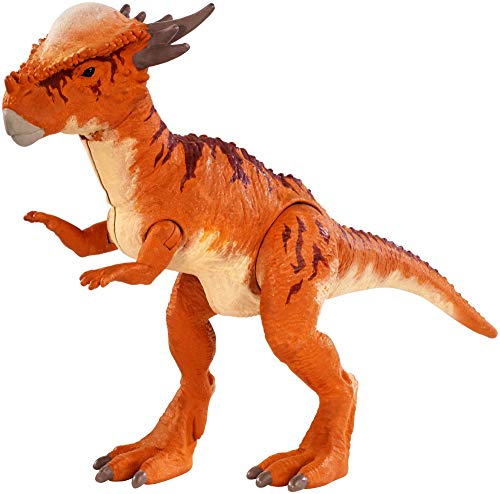Jurassic World Battle Damage Stygimoloch Stiggy, Dinosaurio de Juguete, (Mattel FNB32)