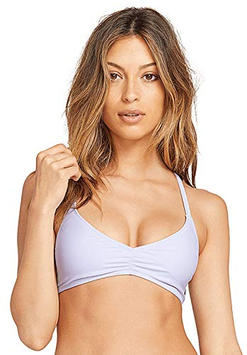 Volcom Damen Women's Simply Solid V Neck Bikini Top Bikinioberteil, violett, X-Small