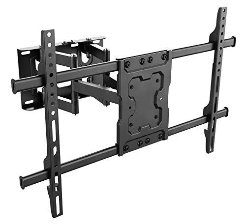 RICOO TV Wandhalterung S7264 Universal für 40-75 Zoll (ca. 102-191cm) Schwenkbar Neigbar   Wand Halter Aufhängung Fernseh Halterung auch für Curved LCD & LED Fernseher   VESA 300x200 600x400 Schwarz