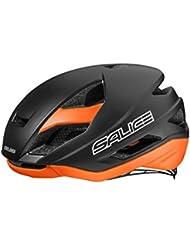 Salice LEVANTE - Casco de ciclismo, color negro/naranja, talla 58-62 cm