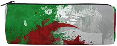 Bonipe Algérie Drapeau Fond Trousse Pochette Sac d'école papeterie Pen Box Zipper Cosmétique Sac de maquillage | Que Nos Produits Vont Dans Le Monde