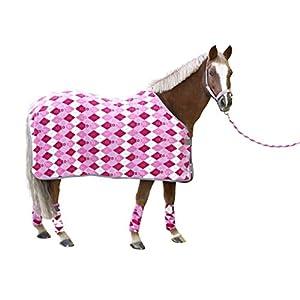 Covalliero 3210500 RugBe Fleecedecke Lilli Pony Karo-Design