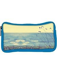 Snoogg Eco Friendly Canvas Coast Grass Sunshine Student Pen Pencil Case Coin Purse Pouch Cosmetic Makeup Bag