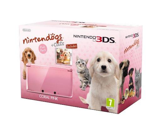 Console Nintendo 3DS - rose corail avec Nintendogs + cats Golden Retriever & ses nouveaux amis - édition limitée [import anglais]
