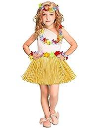 Vestido de Fiesta de los niños Princesa Fiesta Corona Hawaiana Conjunto de Falda de Hierba 40 cm Niños Adultos Fiesta de Fiesta Vestido Falda de Baile