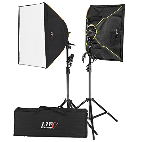 Life of Photo Daylight Tageslicht Set mit Softboxes und 8 Energiesparlampen