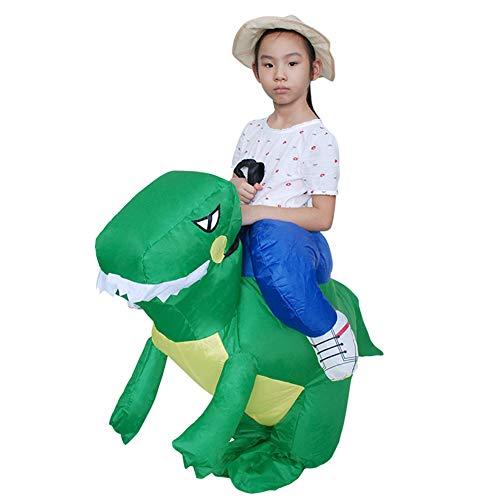 Deanyi Kleinkind Halloween-Kostüm Cosplay Aufblasbare Weihnachten Dinosaurier Aufblasbare Kleidung Karneval-Party-Performance Service ohne Batterie Grün (Kleinkinder Halloween-kostüme Dinosaurier)