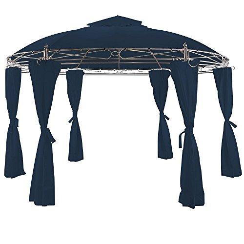 Tonnelle Toscana Bleu - 3,5 m - Pavillon - Tente de jardin - Barnum rond Jardin