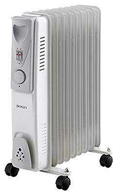Sogo cal-ss-18209Elektrischer Öl-Radiator, 9Heizrippen, Weiß von Sogo bei Heizstrahler Onlineshop