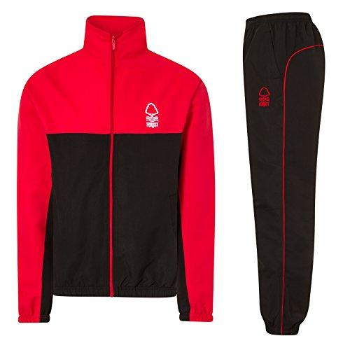 Nottingham Forest FC - Herren Trainingsanzug - Jacke & Hose - Offizielles Merchandise - Geschenk für Fußballfans - L