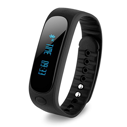 intelligent bracelet - TOOGOO(R)E02 Fitness intelligent Bluetooth bracelet£¨black)