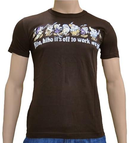 Disney–hiho, hiho 7wharfs–Nains Logo T-shirt S à XXL Medium Marron - marron