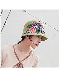 FeiNianJSh Fashion National Style Female Flowers Fedoras Caps for Women  2018 New Wool Felt Hat Hand cfcae08d0e55