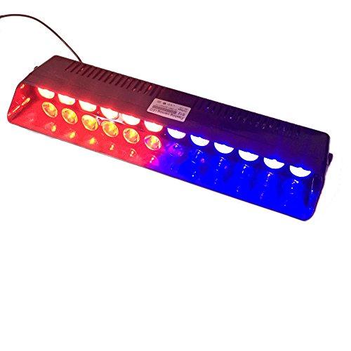 Preisvergleich Produktbild 12W Auto Trucks Windschutzscheibe Notröhrenblitz Blitz Beleuchtung,  LED 12 Dash Warnleuchten ,  Recall-Funktion,  DC12V,  14 blinkende Modi,  Rot und Blau,  T Tocas