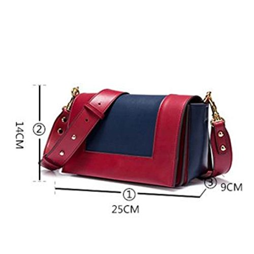 Donne Cuoio Genuino Retro Hit A Colori Singola Spalla Crossbody Bag Piccola Piazza Brown