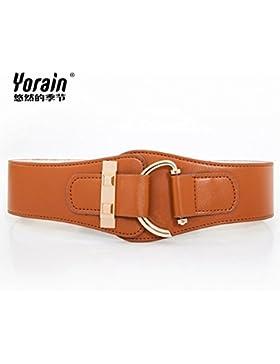 SILIU*Cintura elástica silvestres de primavera con fajas downcoat cinturilla ancha de habilitaciones de falda...