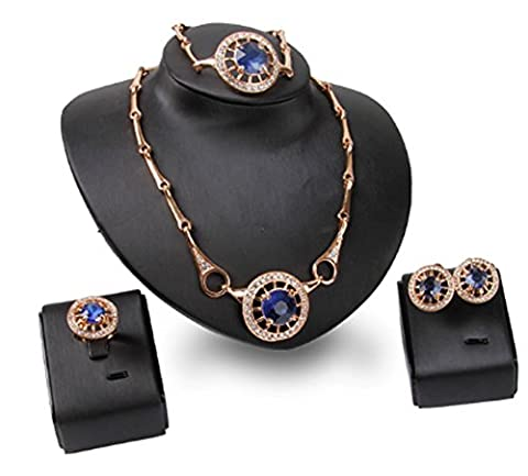 SaySure - jewelry sets african bridal gold crystal necklace earrings bracelet